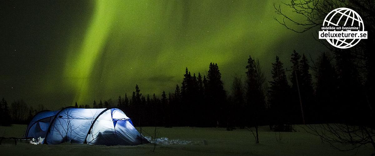 Fjällräven Akka i norrsken Foto_David Erixon