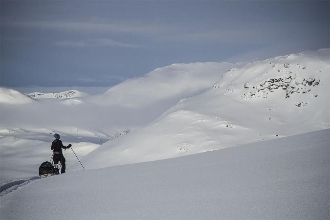 På väg ner i dalen Galjavagge_david_erixon