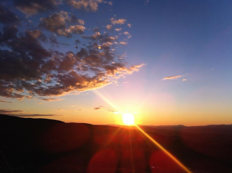 Solnedgång på Blåhammaren