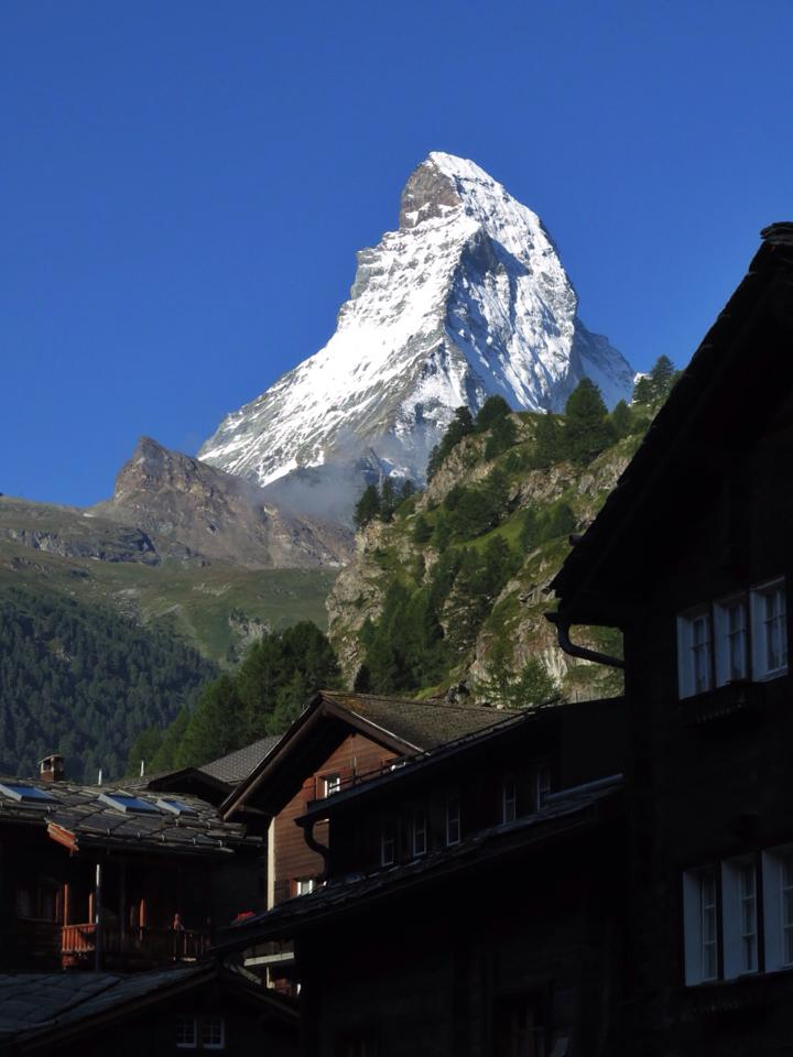 Matterhorn från balkongen. Foto: David Erixon
