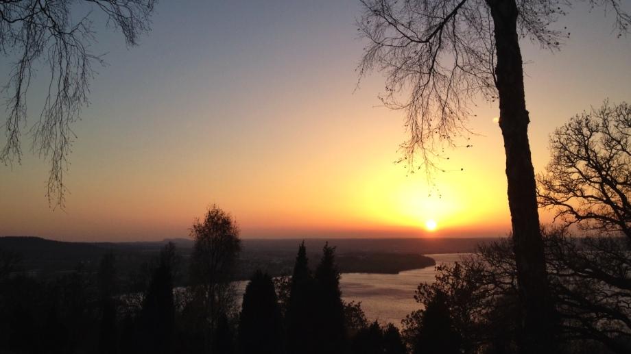 Vacker solnedgång över Jönköping.  Foto: David Erixon