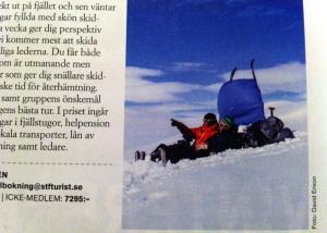Bild från Vita bandet 30 dagar publicerad i tidningen Turist.