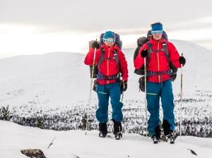 David och Niclas i Grövelsjöfjällen. Foto: David Erixon