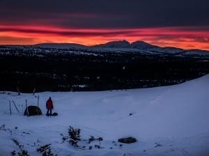Solnedgång över Rendalssölen. Foto: David Erixon