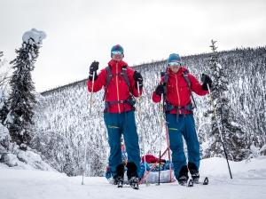 Niclas Bentzer och David Erixon under Yukon Arctic Ultra Foto: David Erixon