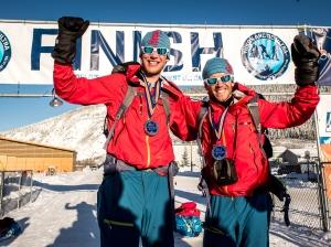 Niclas Benzer och David Erixon vid målet i Dawson City Foto: Jörn Theissig