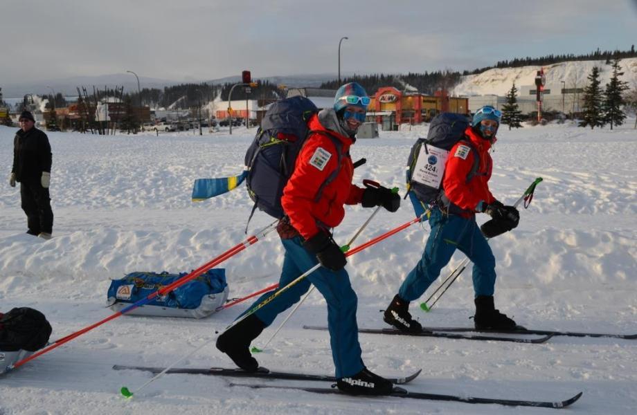 Arkivbild från starten. David och Niclas. Foto Bengt Pettersson