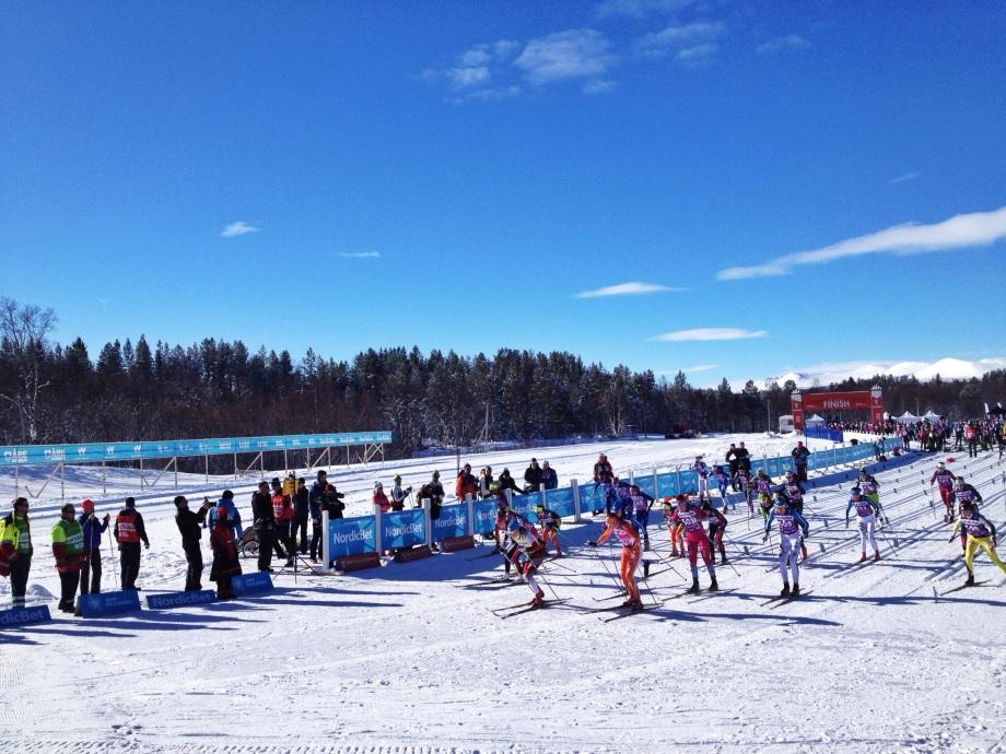 Damstarten av Årefjällsloppet 2015.