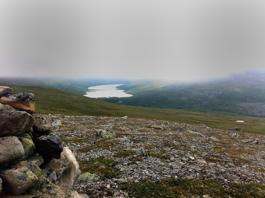Utsikten över Grövelsjöns norra delar.