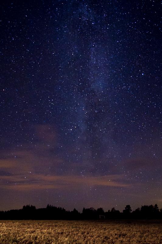 Vintergatan i Sävdabo eller kanske ska heta Sävdabo i vintergatan... Foto: David Erixon