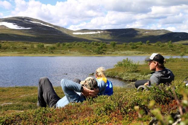 Fiskepaus med vy. Foto: Linnea Nilsson Waara