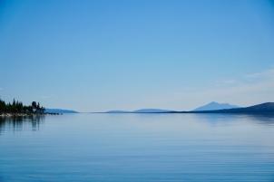 Spegelblankt på Femunden. Foto: Linnea Nilsson-Waara