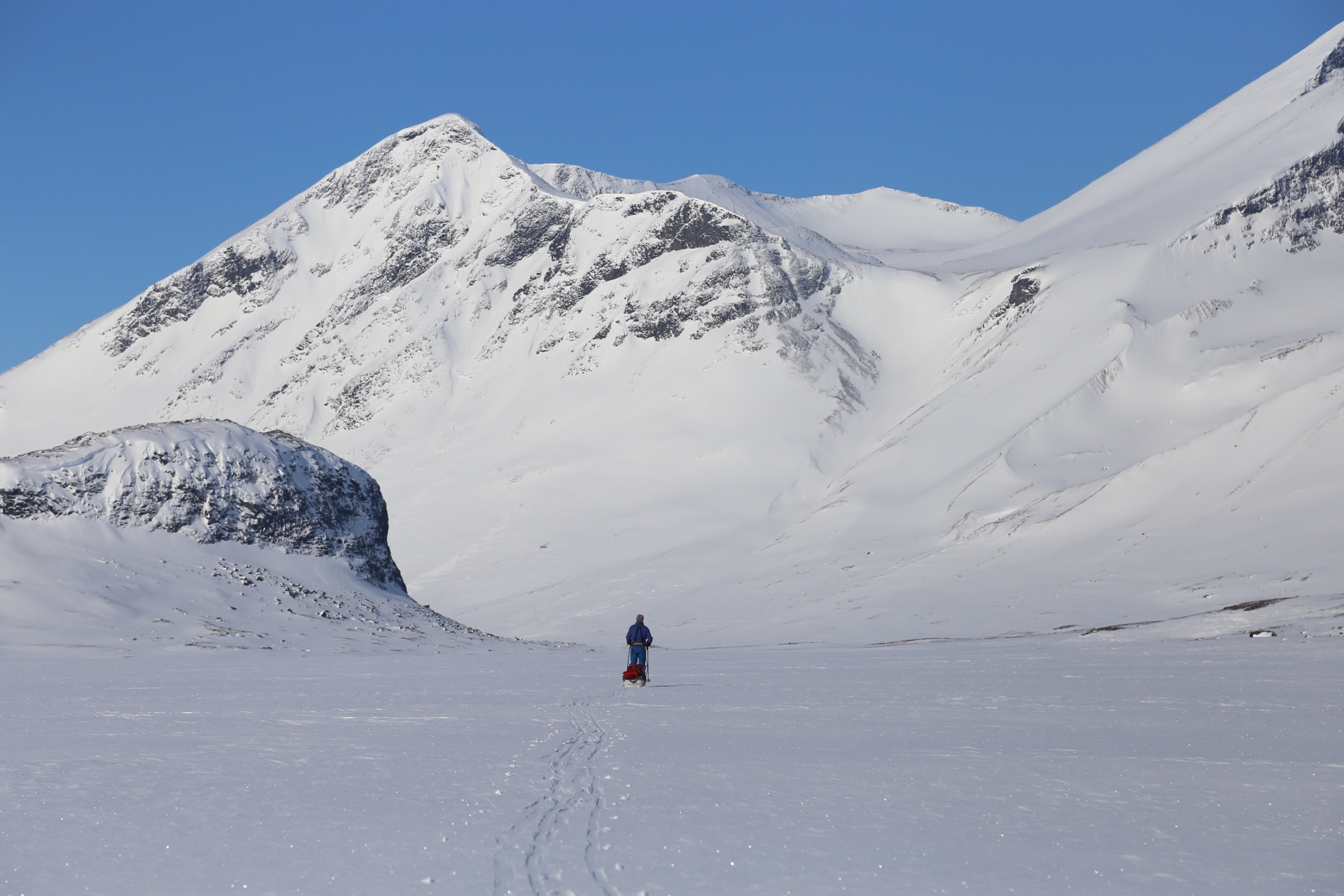 Vintertur i Sarek: Den mäktiga Rapadalen