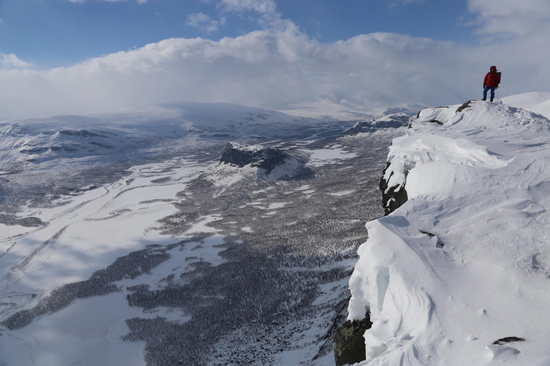 Vintertur i Sarek: Topptur till Skierffe